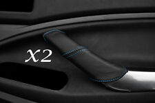 BLUE STITCH FITS FORD C MAX 2008-2010 2X REAR LEATHER DOOR HANDLE COVERS ONLY