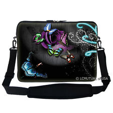 "17.3"" Laptop Computer Sleeve Case Bag w Hidden Handle & Shoulder Strap 2705"