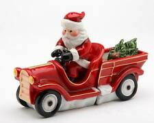 10262 Santa Claus Car Truck Driver Salt Pepper Shaker+Condiment Trailer Wagon