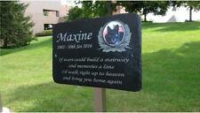 Large, Medium, Small Pet Photo Memorial Slate Personalised Plaque Optional Stake
