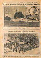 Émile Marie Laurent préfet de police de Paris/Volontaires Etrangers WWI 1914