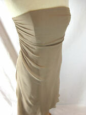 Size 10 GEORGE silk georgette cafe au lait coloured evening cocktail party dress