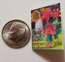 Miniature Dollhouse Disney book Barbie 1/12 Scale Trolls Poppie Branch Movie  W