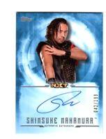 WWE Shinsuke Nakamura 2017 Topps Undisputed Blue On Card Autograph SN 42 of 199