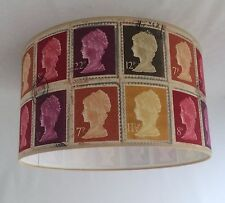"14"" Lampshade Handmade in UK - Pretigious '1st Class Stamp' Mulberry Fabric"