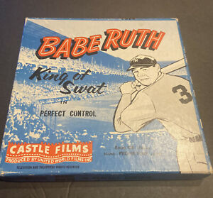 """VINTAGE BABE RUTH """"KING OF SWAT PERFECT CONTROL BOXED CASTLE BASEBALL FILM SHARP"""