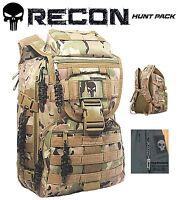 Punisher Hunting Backpack / Range Bag + 4 -FREE- Zipper Pulls & Skull Multi-tool