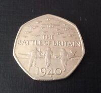 50p Coin 2015 Battle Of Britain Circulated FREEPOST