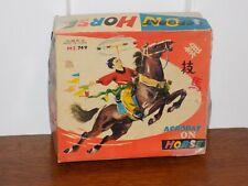 Vintage Acrobat on Horse Tin Wind Up Toy China