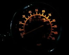 YELLOW YAMAHA VIRAGO 535  led dash clock conversion kit lightenUPgrade