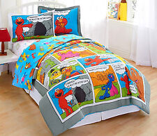 TWIN /SINGLE - Sesame Street - Comic Strip SHAM & COMFORTER SET