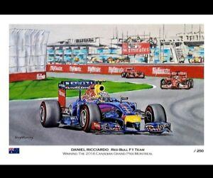 Daniel  Ricciardo Formula 1 A3 Print Artwork Red bull