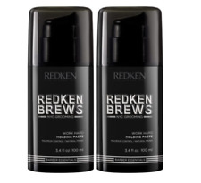 Redken Brews Work Hard Molding Paste 2 X 100ml All Hair Types RFM