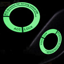 1PC Luminous Car Ignition Key Hole Ring Coil Switch Decoration Sticker Universal