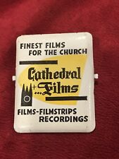Vintage Advertising Paper Receipt Clip, Cathedral Films, Finest for the Church.