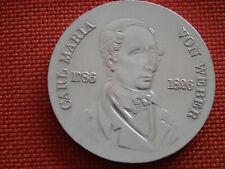 """DDR 10-Mark-Gedenkmünze """" Carl Maria von Weber """" Silber,Stgl."""