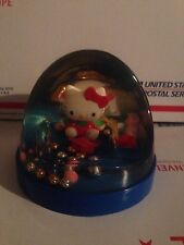 SALE! Hello Kitty Desk Top Pen/Pencil Globe Holder Paperweight Cat Kitten Blue