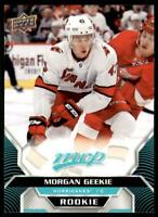 2020-21 UD MVP Base Rookie SP #225 Morgan Geekie RC - Carolina Hurricanes