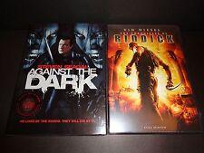 AGAINST THE DARK & THE CHRONICLES OF RIDDICK-2 movies-STEVEN SEAGAL, VIN DIESEL