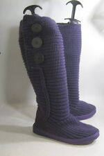 women    Size 5    new ladies wool Purple flat mid-calf sexy Boot