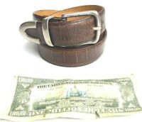 Martin Dingman Premium Alligator Grain Italian Calfskin Dress Belt Brass Mens 34