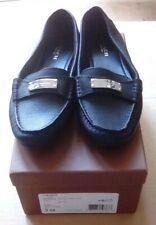 Coach Fredrica Black Pebble Grain Leather Loafer Flats Size 5M A5175 New in Box