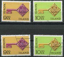 Island 417 - 418 postfrisch und gestempelt, Europa