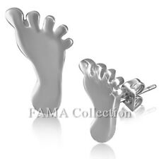 Unique FAMA Stainless Steel Baby Foot / Feet Stud Earrings