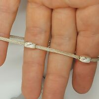 Sterling silver 925 solid jewellery bracelet 7 inches womens bangle S104