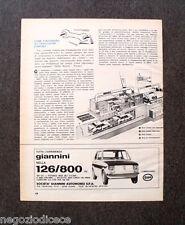 P767 - Advertising Pubblicità -1974- ESPERIENZA GIANNINI 126/800