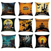 Halloween Pumpkin Pillow Case Polyester Waist Cushion For Home Sofa Cover G1E3
