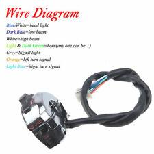 1 Pcs Chrome Motorcycle Handlebar Horn High Low Beam Turn Signal Switch Control