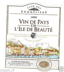 Etiquette de vin - Vin de pays de l'Ile de Beauté (185)