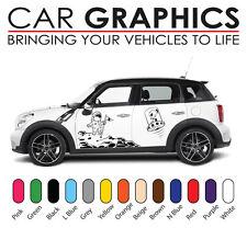 Mini car graphics number decals stickers cooper vinyl design mn7