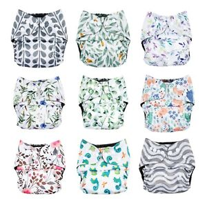 NEW Modern Cloth Nappy Eco-Friendly Bamboo Charcoal Reusable Diaper Shell Insert