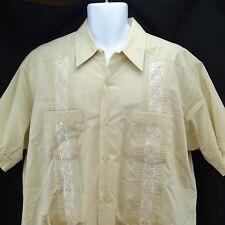 camisa estilo cubana hombr con bolsillostalla grandes