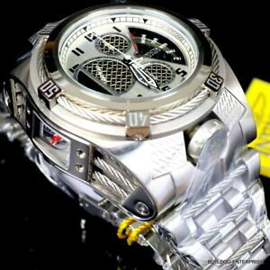 Invicta Reserve Bolt Zeus Tria Twisted Metal Steel 56mm 3 Swiss Dials Watch New