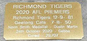 2020 New Richmond Premiers Gold Plaque F/Post 2019 and 2017 also available