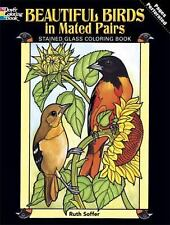 Dover Nature Stained Glass Coloring Book: Beautiful Birds in Mated Pairs
