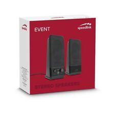 SPEEDLINK EVENT BLACK MULTIMEDIA STEREO SPEAKERS USB LAPTOP DESKTOP PC COMPUTER