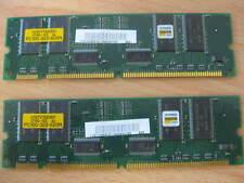 2x Hynix HYM7V75AE801ATHG-10S SDRAM 64MB PC 100 Reg ECC 100Mhz RAM #J15