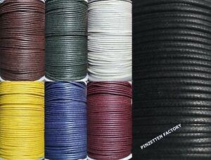 Gewachste Baumwollschnur Baumwolle Schmuckband Kordel (Farbe/Größe/Länge wählbar