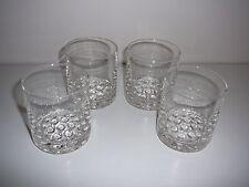 Glass Water Tumblers bubbles x 4 retro bar drinks spirits scotch man cave