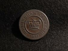 1811 CROWN COPPER COMPANY ONE PENNY TOKEN / COIN - BIRMINGHAM AND NEATH
