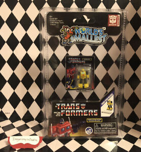 World's Smallest Transformers G1 Bumblebee mini Blister Card Stand New Sealed