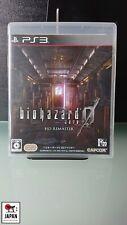 "BIOHAZARD ZERO O ""HD REMASTER"" - PS3 JAPAN - ETAT MINT +++++"