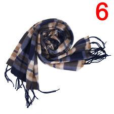 New Wool Blend Women&Men Geometric Plaid Wrap Winter Warm Fleece Scarf Shawl 3C
