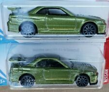 NISSAN SKYLINE GT-R (BN34) HOT WHEELS TOYS (Lot of 2) Green