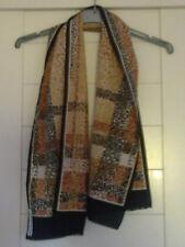 Foulard/étole noir/beige/marron polyester