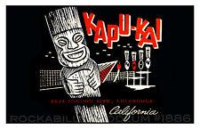 Tiki Poster 11x17 Polynesian Kapu-Kai California Bar Restaurant Mid Century